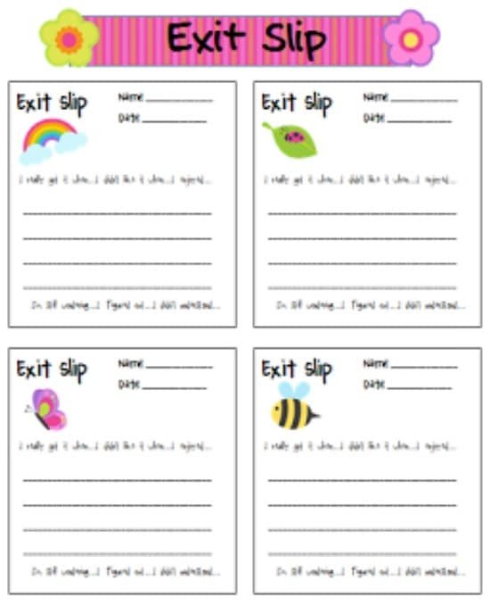 Teach Junkie: 5 Spring Writing Templates {Free Download} - Spring Exit Slips