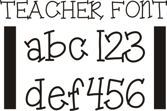 image relating to Printable Fonts identified as 26 Totally free Fonts for Lecturers - Train Junkie