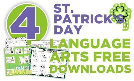 Teach Junkie: 4 St. Patrick's Day Language Arts {Free Download}