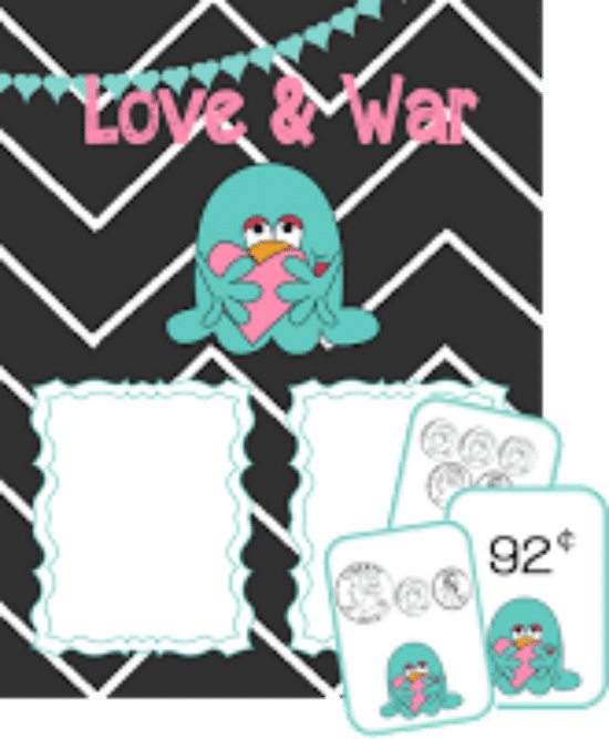 Printable Games {Teacher Created} on Teach Junkie - Love and War Money Game