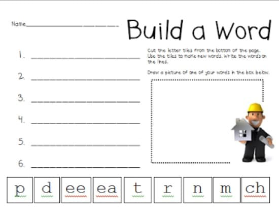 3 Vowel Pattern Worksheets {Free Download}