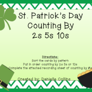 St. Patrick's Day Counting By 2, 5, 10 {Free Download}