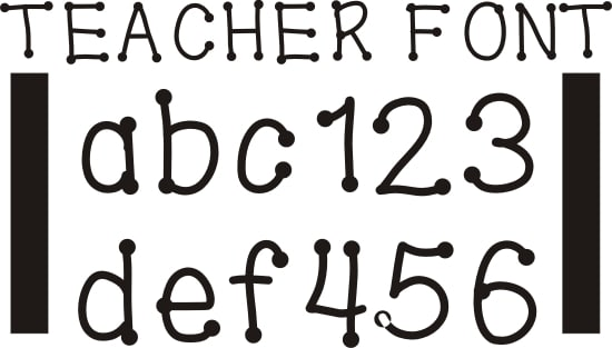 Teach Junkie - 42 Free Fonts for Teachers {Goodie Bag}