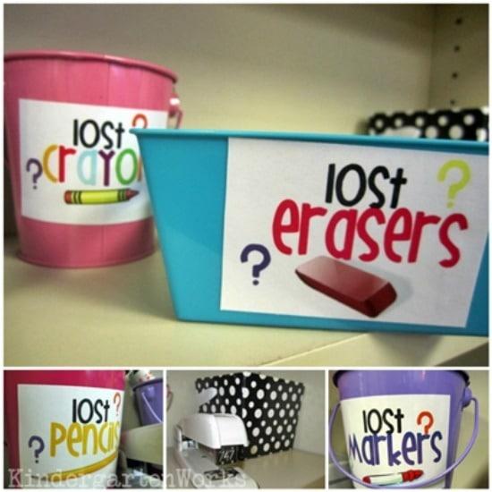 Teacher Organization With Supply Labels - Teach Junkie
