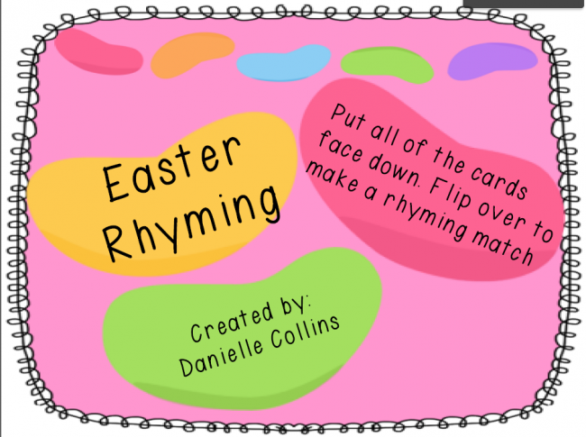 graphic about Printable Rhyming Cards identify Easter Rhyming Playing cards cost-free printable - Prepare Junkie
