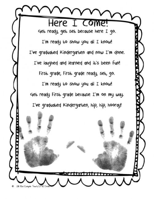 Teach Junkie: 26 Fun and Memorable End of the School Year Celebration Ideas - Handprint Poem