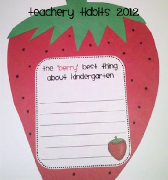 "Teach Junkie: 17 Simple End of the school Year Student Gifts and Writing Activities - The ""berry"" best of K,1,2"