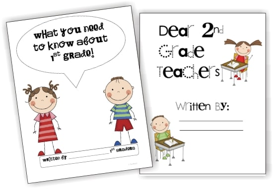 Teach Junkie: 17 Simple End of the school Year Student Gifts and Writing Activities - Free Letter Templates for end of the year