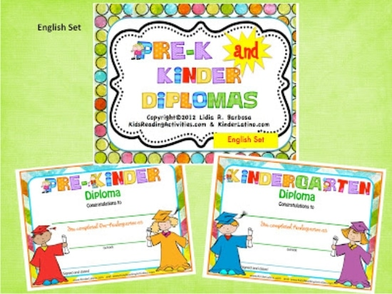 Teach Junkie: 26 Fun and Memorable End of the School Year Celebration Ideas - Free Diplomas