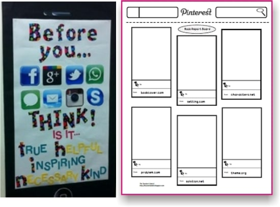 Teach Junkie: Top 5 Teaching Ideas - Pinterest Style Book Report