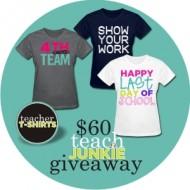 Teacher T-Shirts $60 Winner Page