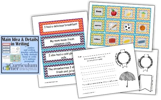 Teach Junkie: Paragraph Writing - Main Ideas & Details