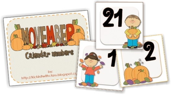 Teach Junkie: 13 Printable Calendar Numbers {Free Download Sets}