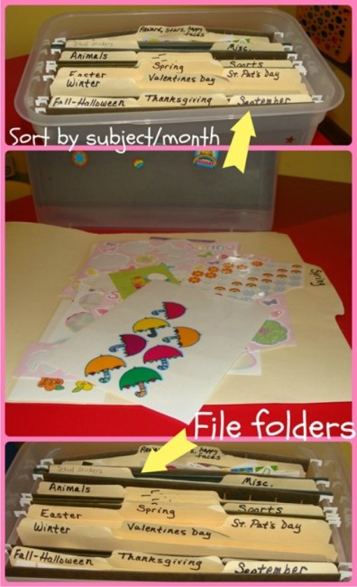Teach Junkie: Top 5 Teaching Ideas - How to Organize Stickers {Simple}
