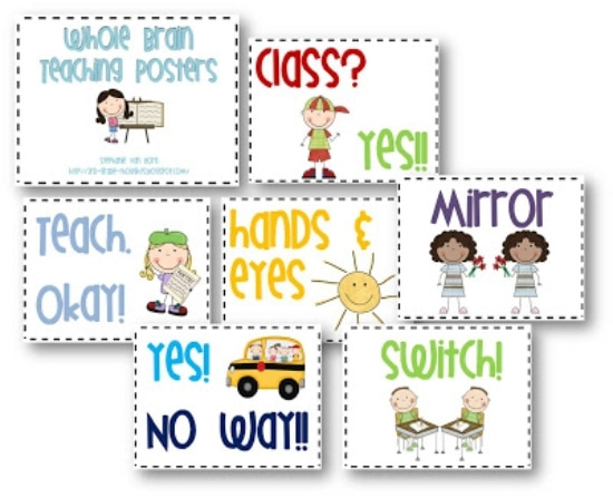 Teach Junkie: 2 Classroom Management Expectations Poster Sets - Whole Brain Teaching