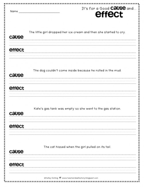 Teach Junkie 12 Easy Cause And Effect Activities Worksheets Simple Sentences