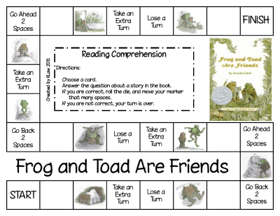 Teach Junkie: 25 Easy Frog and Toad Ideas and Activities - 3 Frog and Toad Comprehension Games