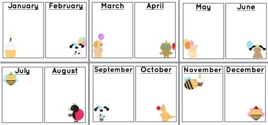 Teach Junkie: 9 Simple Birthday Celebrations and Classroom Birthday Wishes - birthday charts