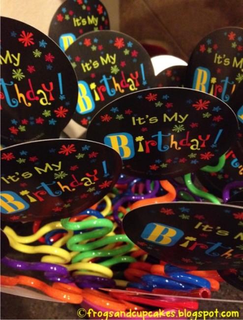 Teach Junkie: 9 Simple Birthday Celebrations and Classroom Birthday Wishes - birthday silly straws bouquet
