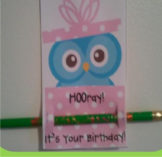 Teach Junkie: 9 Simple Birthday Celebrations and Classroom Birthday Wishes - pencil topper birthday gift