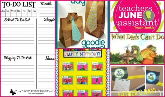 It's time to get organized for June, the end of a year and summer school! Let's see if Teach Junkie can help break down some teacher organization stuff as your personal teacher's assistant. {wink}