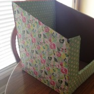 Simple DIY File & Paper Organizer for Teachers