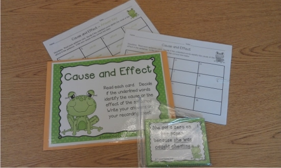 Printable Games {Teacher Created} on Teach Junkie - Cause and Effect Scoot