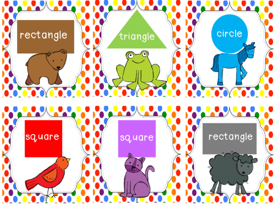 Teach Junkie: Brown Bear Brown Bear Shapes Game