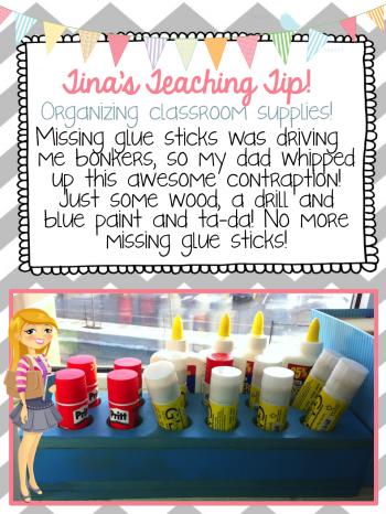 Teach Junkie: Glue Stick Tracking Tips