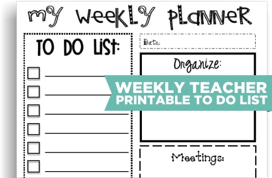 photo about Weekly to Do List Printable named 8 Lovely Trainer Printable In the direction of Do Lists - Coach Junkie