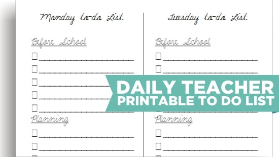 Teach Junkie: 8 Cute Teacher Printable To Do Lists