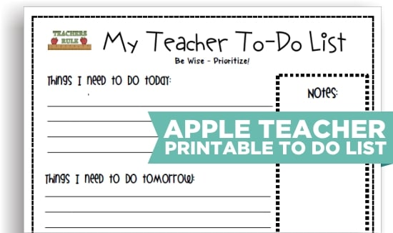8 cute teacher printable to do lists teach junkie