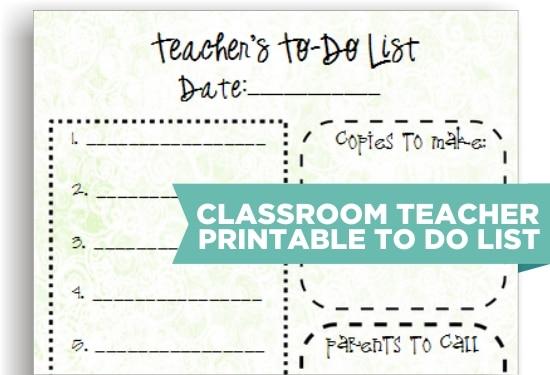 8 Cute Teacher Printable To Do Lists - Teach Junkie