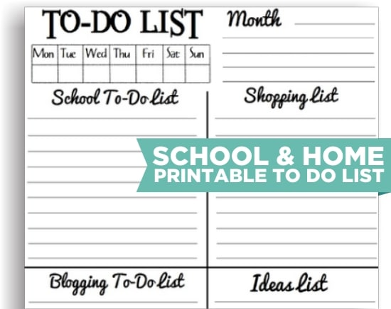 photo regarding Cute Printable to Do List named 8 Adorable Trainer Printable In direction of Do Lists - Educate Junkie