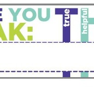 Teach Junkie: Think Before You Speak Name Tags Template