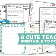 8 Cute Teacher Printable To Do Lists