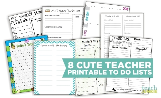 image relating to Cute Printable to Do List named 8 Lovable Trainer Printable Toward Do Lists - Train Junkie