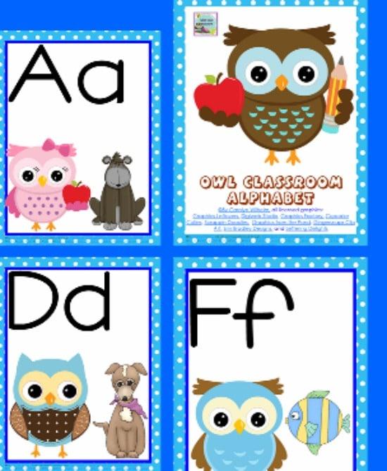 Teach Junkie 5 Free Printable Word Wall Alphabet Cards
