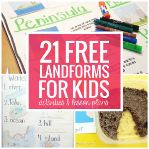 21 Landforms for Kids - Free Activities and Lesson Plans