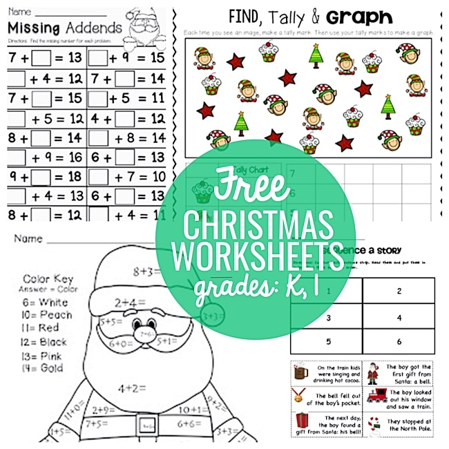 23 festive christmas worksheets for k 1st teach junkie. Black Bedroom Furniture Sets. Home Design Ideas