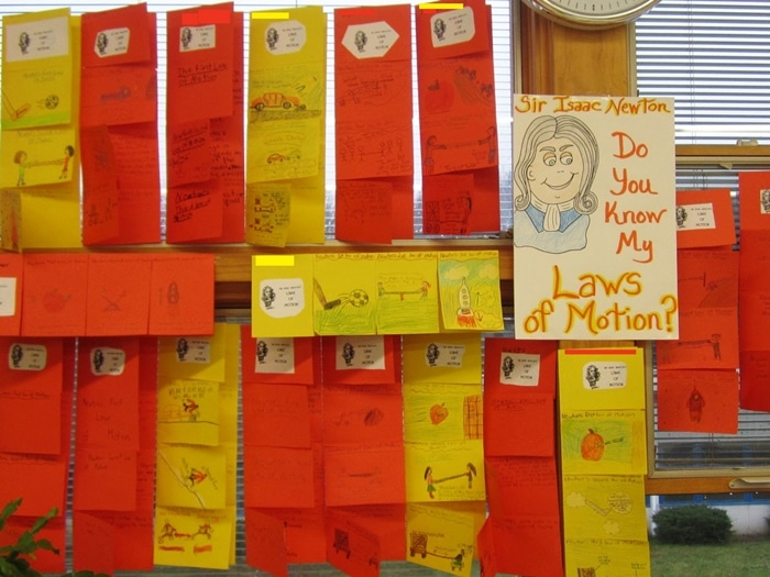 24 Elementary Force and Motion Experiments and Activities -Make a foldable to summarize Sir Isaac Newton's Laws of Motion