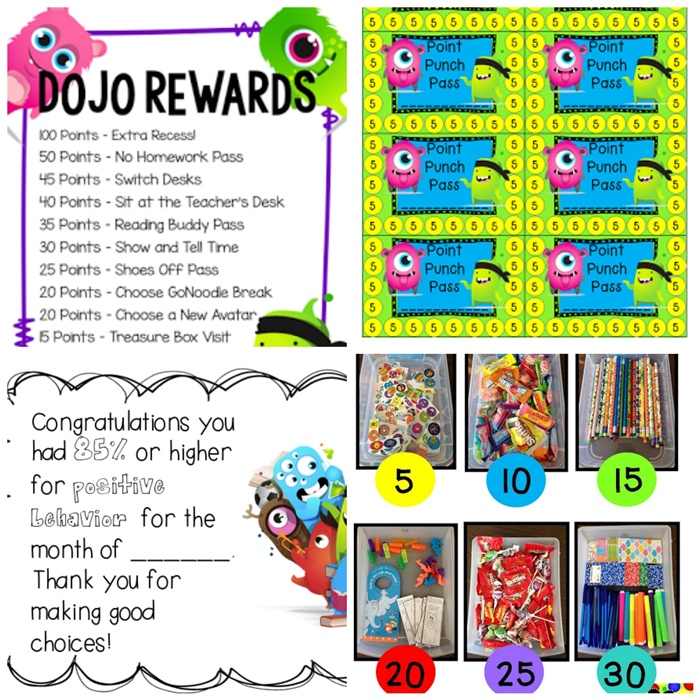 27 Amazing Class Dojo Printables and Ideas - Class Dojo Rewards - Teach Junkie