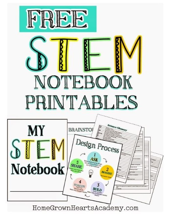 28 Awesome STEM Challenges for the Elementary Classroom - Stem Notebook Printables - Teach Junkie