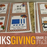 2nd Grade Thanksgiving Math Task Cards