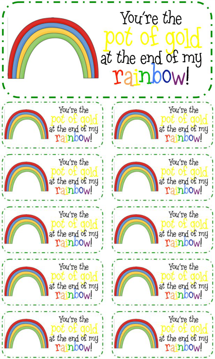 3 Adorable and Free St. Patrick's Day Tags Printables - treat toppers