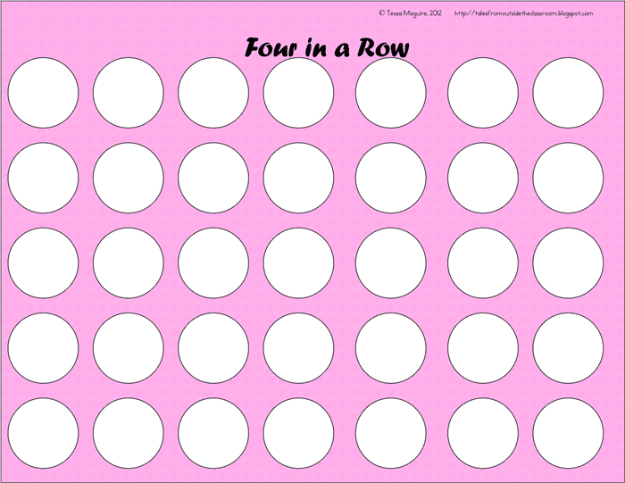 3 Free Game Boards to Make Your Own Center Activities - blank 4 in a row