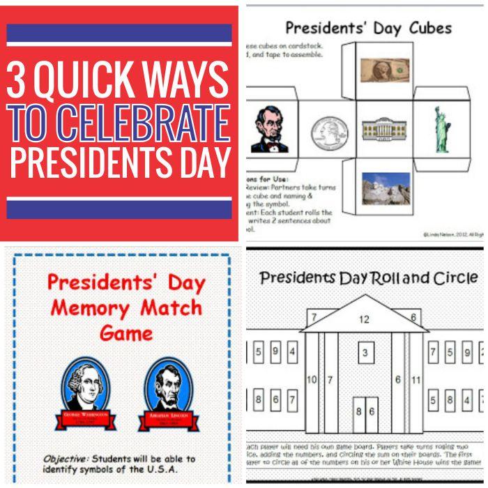 3 Quick Ways to Celebrate Presidents Day - Teach Junkie