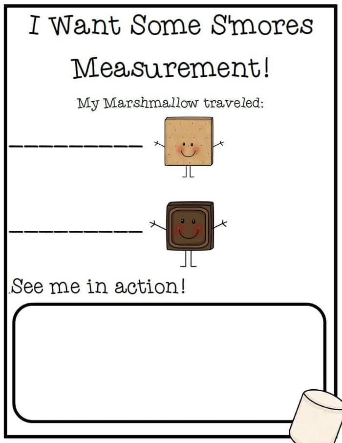 31 Easy and Fun Camping Theme Ideas and Activities - marshmallow measurement free download lesson plan activity - Teach Junkie