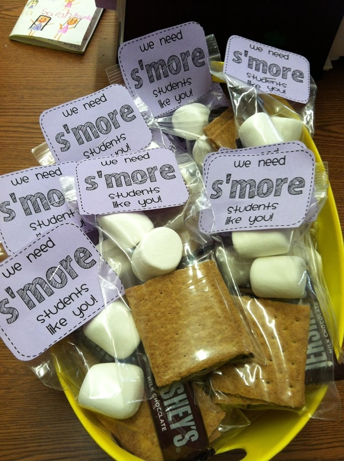 31 Easy and Fun Camping Theme Ideas and Activities - s'more students like you treat topper - Teach Junkie