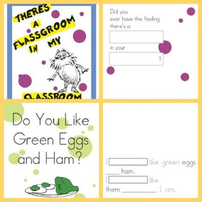 31 Ideas for Read Across America and Dr. Seuss - Green Eggs and Ham and There's a Wocket in My Pocket.